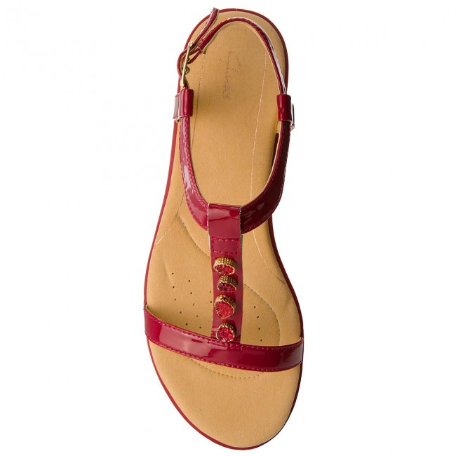 Sandals CLARKS Bay Blossom 261319444 Fuchsia Patent