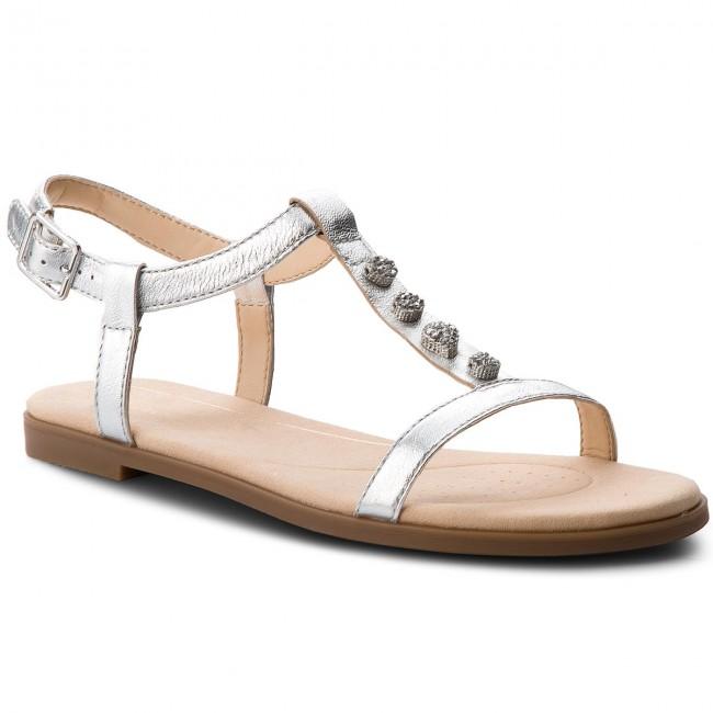 b49a7090cb7d Sandals CLARKS - Bay Blossom 261319454 Silver Metallic - Casual ...