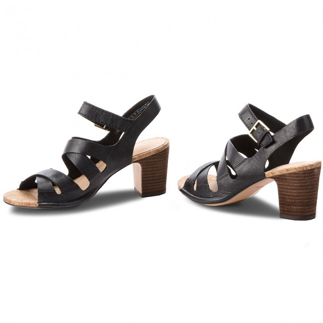 261318224 Leather Sandals Clarks Spiced Casual Ava Black qxwTAtw