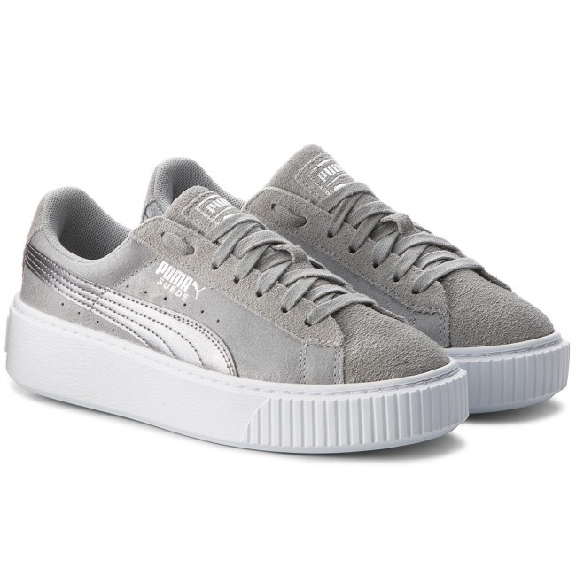 6a6b74c6 Sneakers PUMA - Suede Platform Safari 364594 02 Quarry/Quarry - Sneakers -  Low shoes - Women's shoes - efootwear.eu