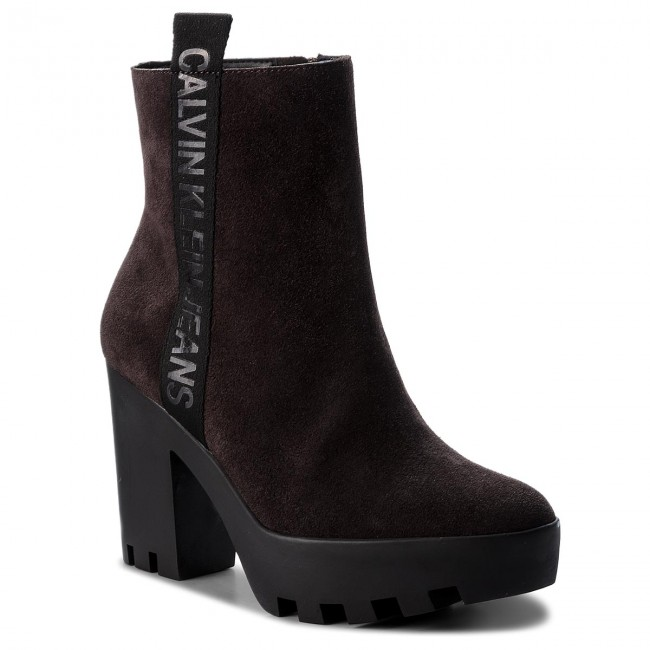 4f15d31f44 Boots CALVIN KLEIN JEANS - Serina RE9768 Brown - Boots - High boots ...