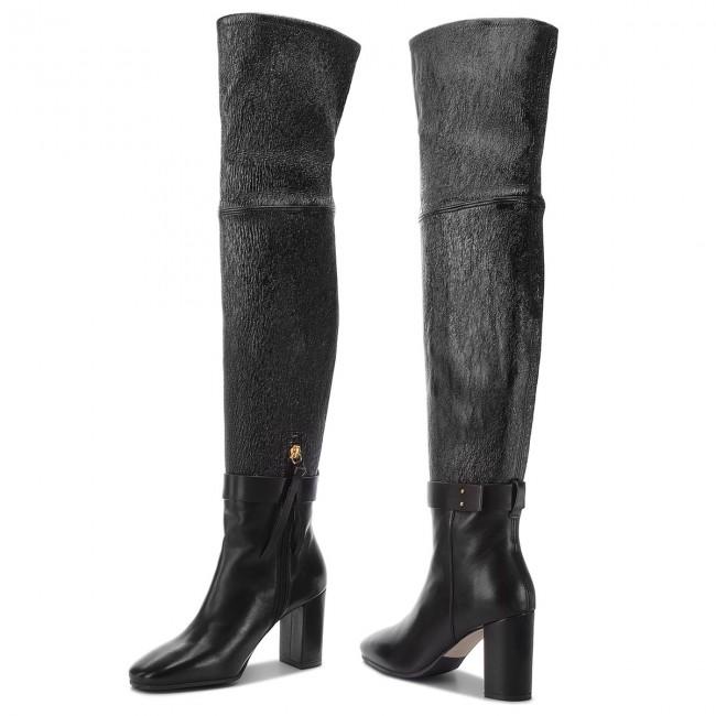 Nowoczesna architektura Over-Knee Boots STUART WEITZMAN - Luna 85 YL96047 Black QJ66