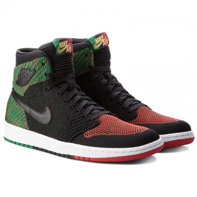 more photos 47eff f1f48 Shoes NIKE - Air Jordan 1 Re Hi Flyknit Bhm AA2426 026 Black Black Pine  Green - Sneakers - Low shoes - Men s shoes - www.efootwear.eu