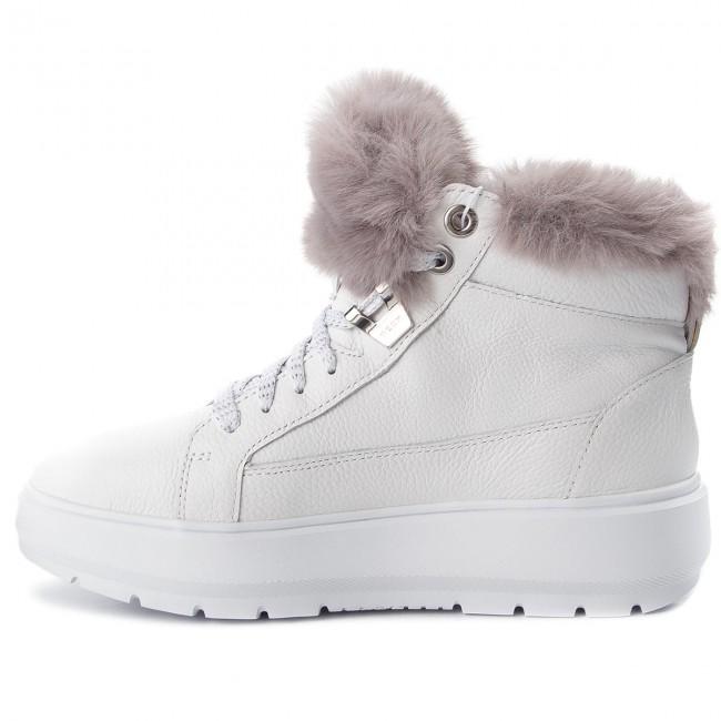 Sneakers GEOX D Kaula B Abx D D84AWD 046BH C0672 WhiteDk Grey CrxKb