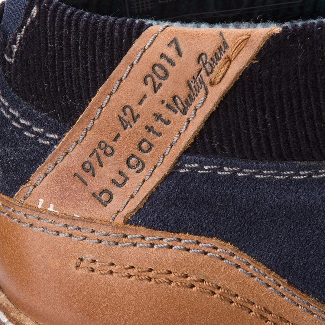 4ee87ef662b3 Boots BUGATTI - 311-60931-1412-4163 Dark Blue Cognac - Boots - High ...