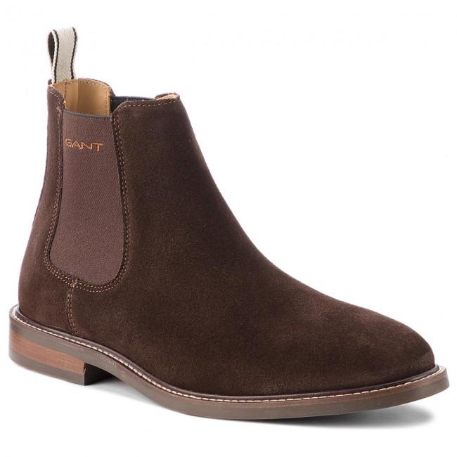 6fec5d2a5dc4c6 Ankle Boots GANT - Ricardo 16653494 Coffee Brown G462 - Chelsea ...