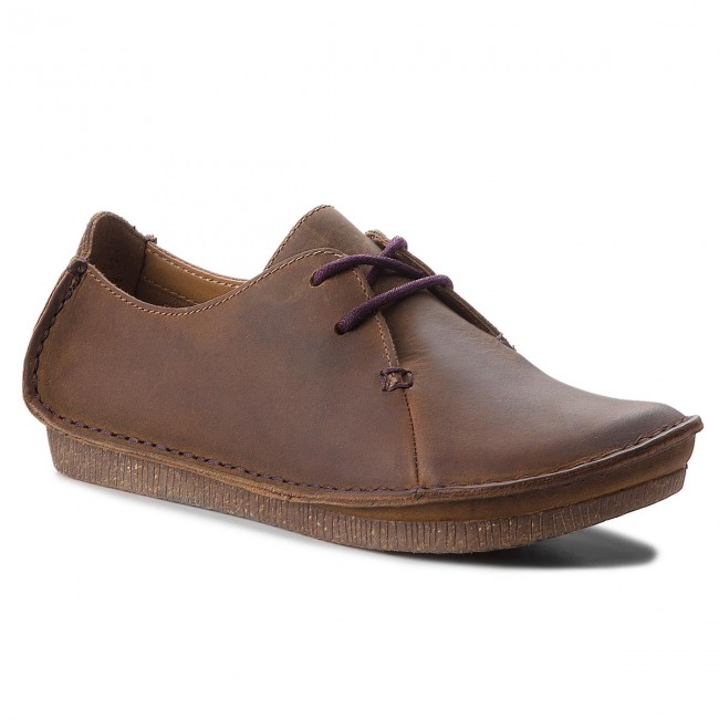 Shoes CLARKS Janey Mae 261126174 Beeswax Flats Low
