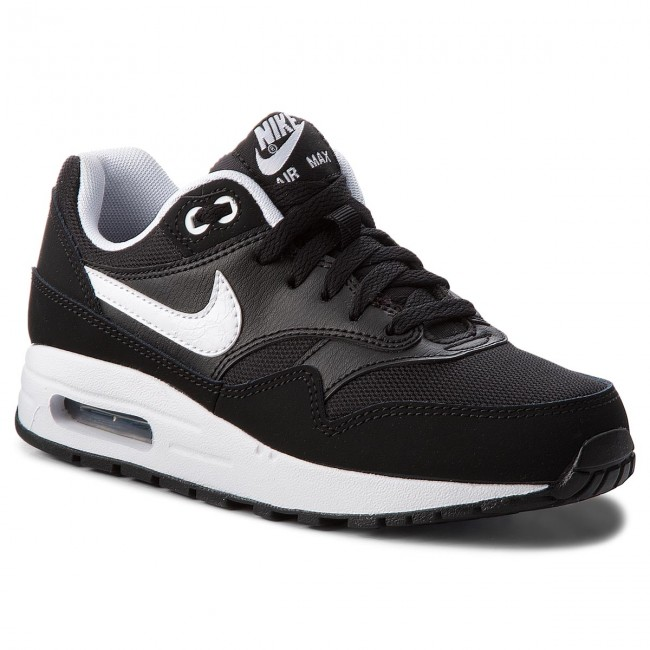 Shoes NIKE - Air Max 1 (GS) 807602 001 Black White - Sneakers - Low ... 0787fc6197c
