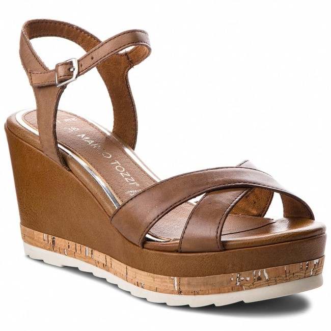Sandals MARCO TOZZI - 2-28721-20 Cognac 305 - Wedges - Mules and ... dce387df49