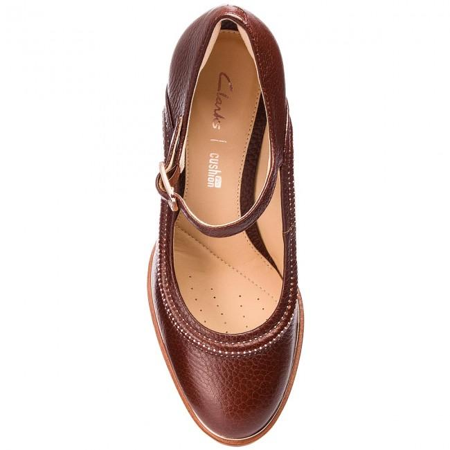f6ea6234b76993 Shoes CLARKS - Ellis Mae 261351074 Tan Leather - Heels - Low shoes -  Women s shoes - www.efootwear.eu