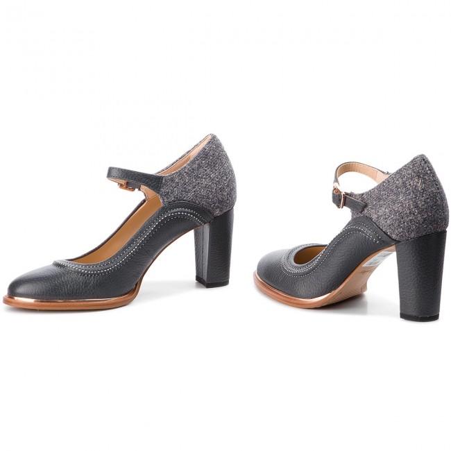36e493ae4b06cb Shoes CLARKS - Ellis Mae 261351454 Dark Grey Combi - Heels - Low ...