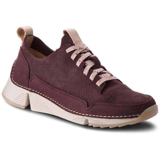 b1501dfd125120 Sneakers CLARKS - Tri Spark. 261354384 Aubergine - Sneakers - Low ...