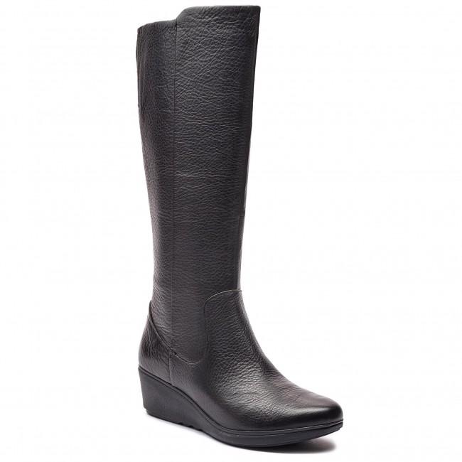 2f75168568d2 Knee High Boots CLARKS - Un Tallara Esa 261355444 Black - Jackboots ...