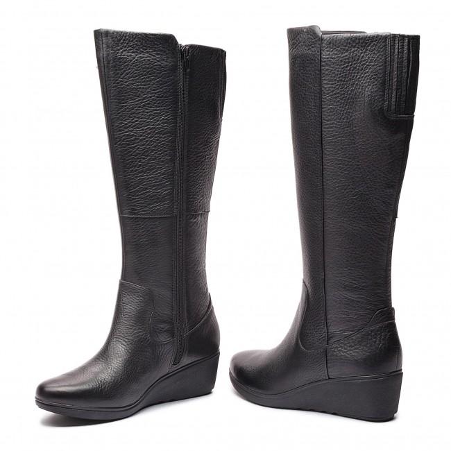 6818780619e1 ... on sale ff705 1c64a Knee High Boots CLARKS - Un Tallara Esa 261355444  Black ...