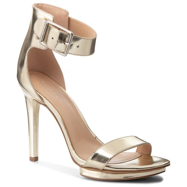 4b6f5dfa505 Sandals CALVIN KLEIN - Vivian N11928 Light Gold - Elegant sandals ...