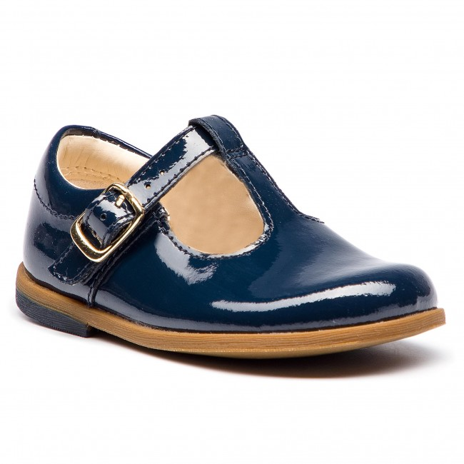 2a29828829e Shoes CLARKS - Drew Shine 261358816 Navy Patent - Slided shoes - Low ...