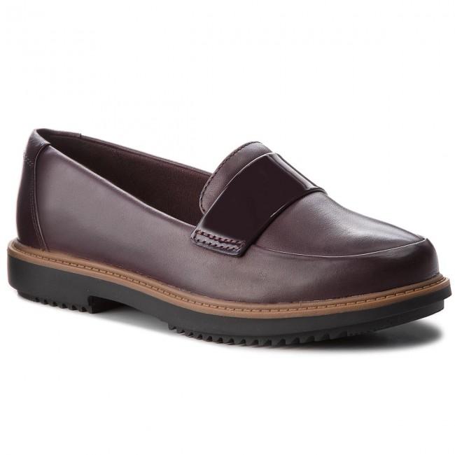 e478ddd35fc50d Shoes CLARKS - Raisie Arlie 261363304 Aubergine - Flats - Low shoes ...