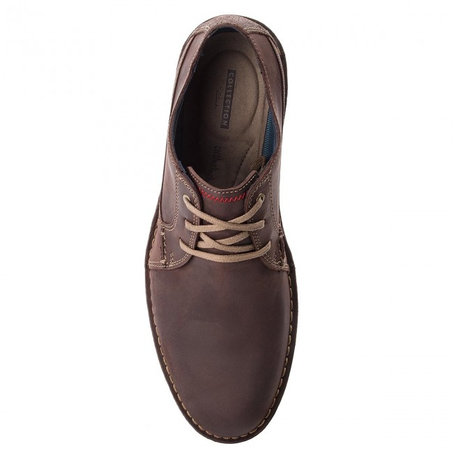 Shoes CLARKS Vargo Plain 261366757 Dark Brown Leather