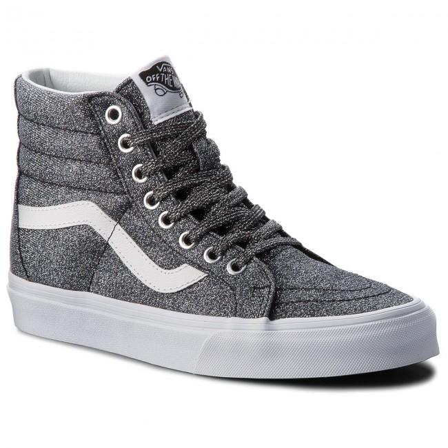 d2a0ba7ad8 Sneakers VANS - Sk8-Hi Reissue VN0A2XSBU3T (Lurex Glitter) Black Tru ...