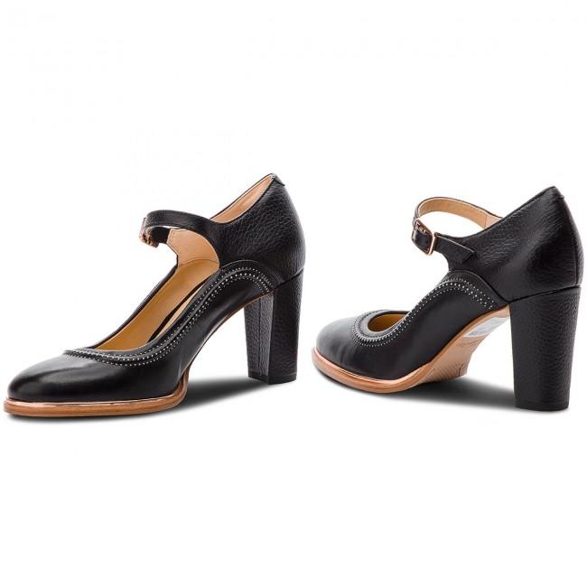97ba03c61327d5 Shoes CLARKS - Ellis Mae 261378004 Black Leather - Heels - Low shoes ...
