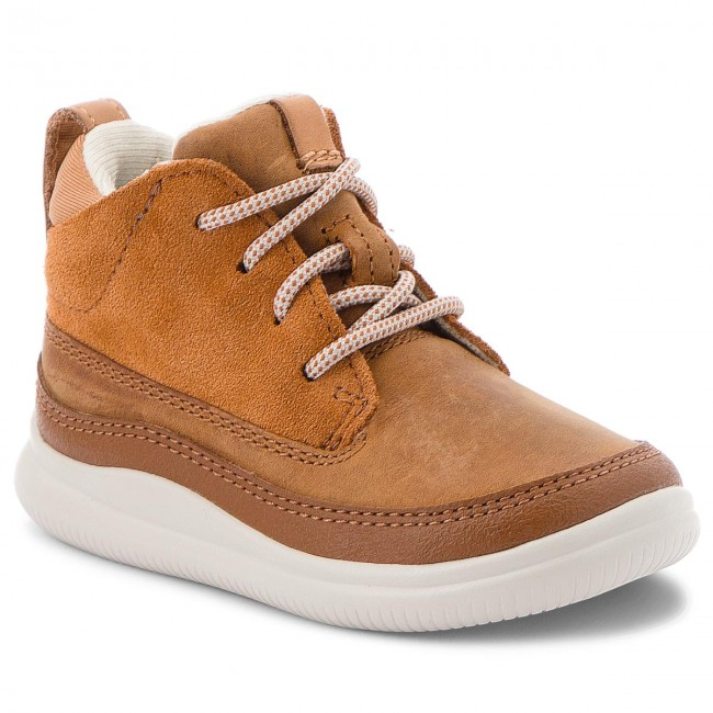 3117390da8d2db Boots CLARKS - Cloud Air Fst 261380346 Tan Combi Lea - Boots - High ...