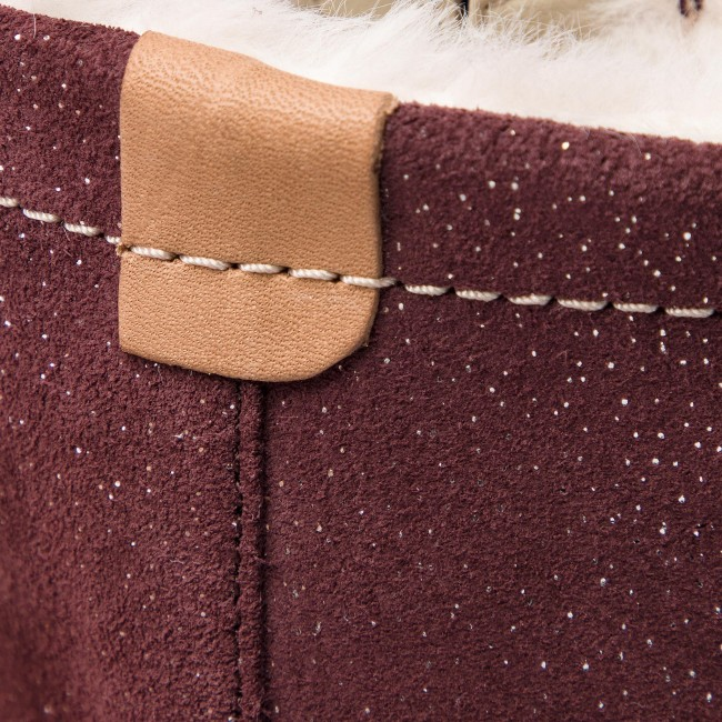 616f526b Knee High Boots CLARKS - Crown Piper 261383026 Burgundy Suede ...