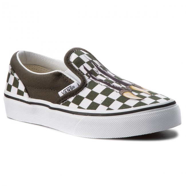 plimsolls vans classic slip on vn0a32qiudx1 checkerboard dino