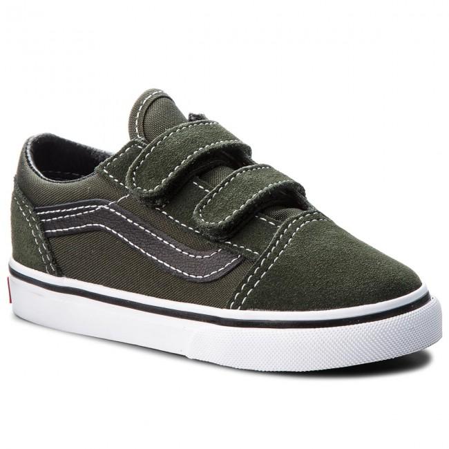 Shoes Vans Old Skool V Vn0a344ku3x Duffel Bagblack Velcro Low