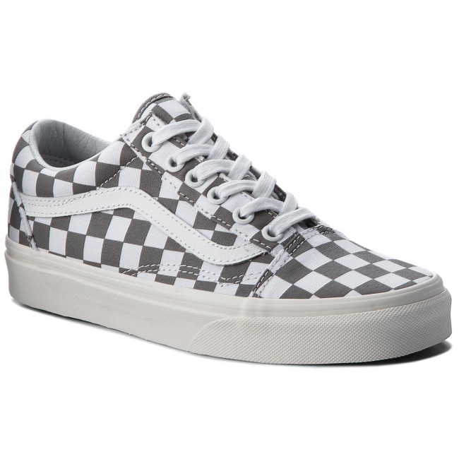 191f3a94409 Plimsolls VANS - Old Skool VN0A38G1U53 (Checkerboard) Pewter Marshmallow