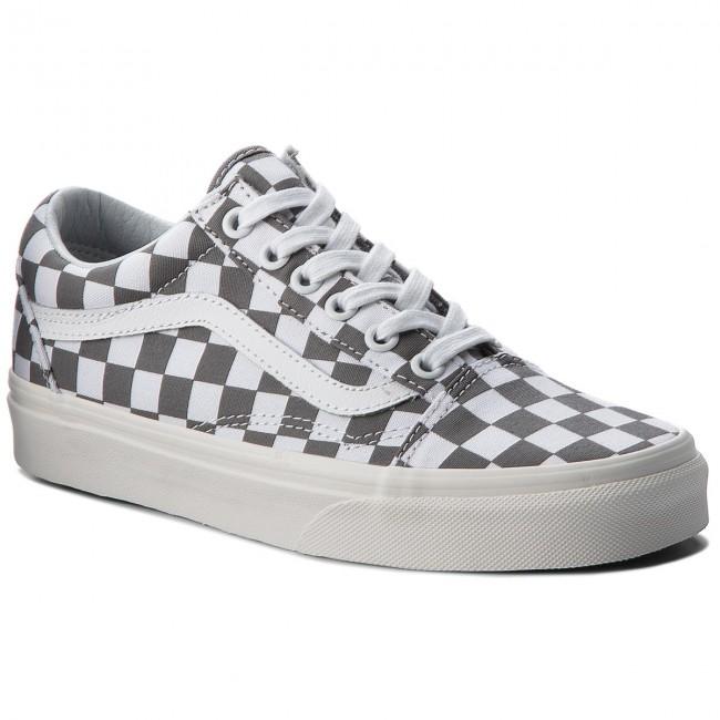 5e85baac201 Plimsolls VANS - Old Skool VN0A38G1U53 (Checkerboard) Pewter Marshmallow