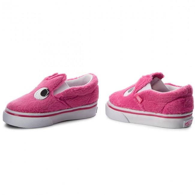 Shoes Vans Slip On Friend Vn0a3tk4u4u Party Fur Magentatrue