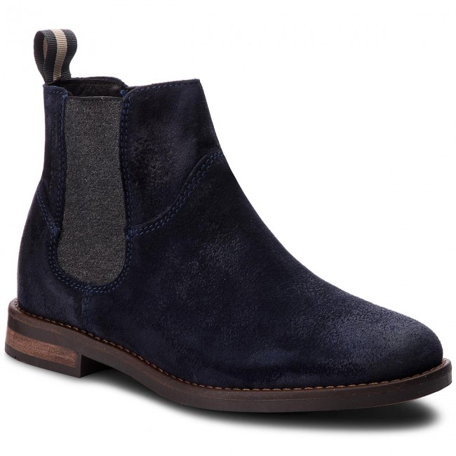 ad6eb958bebb10 Ankle Boots MARC O POLO - 808 14895001 300 Navy 890 - Elastic-sides ...
