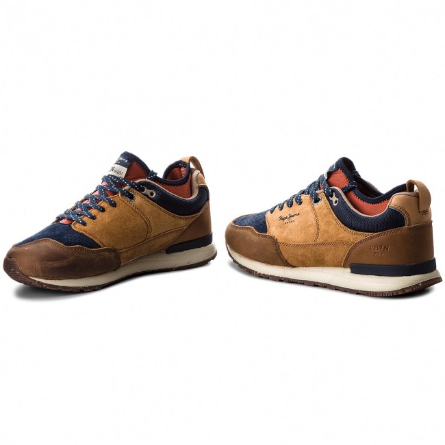 cef517a486f Sneakers PEPE JEANS - Btn Treck Lth Pack PMS30473 Tan 869 - Sneakers ...