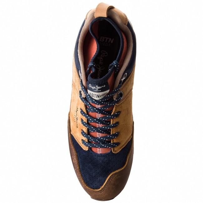 380f2ded429 Sneakers PEPE JEANS - Btn Treck Lth Pack PMS30473 Tan 869 - Sneakers - Low  shoes - Men s shoes - www.efootwear.eu