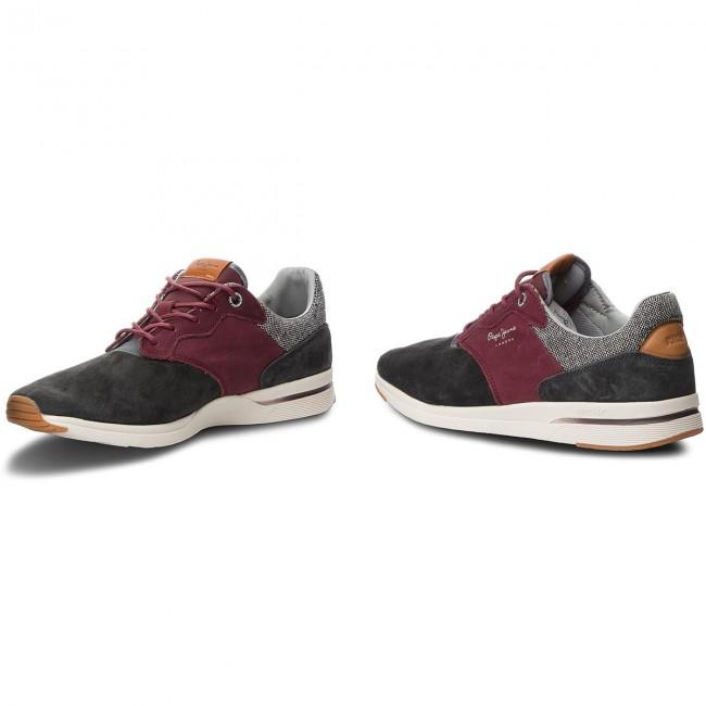 200dacb4957 Sneakers PEPE JEANS - Jayker Nubuc PMS30480 Anthracite 982 ...