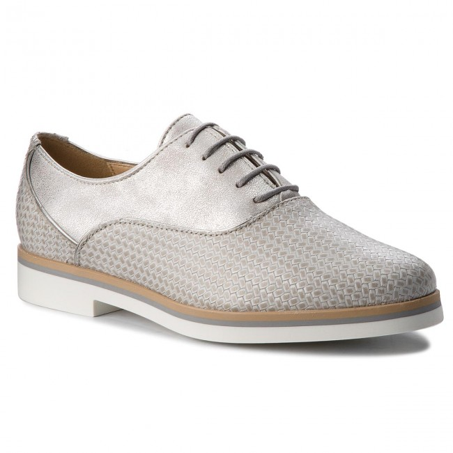 c410e8bf19 Oxfords GEOX - D Janalee D825AA 06RPV C0742 Lt Grey/Off White ...