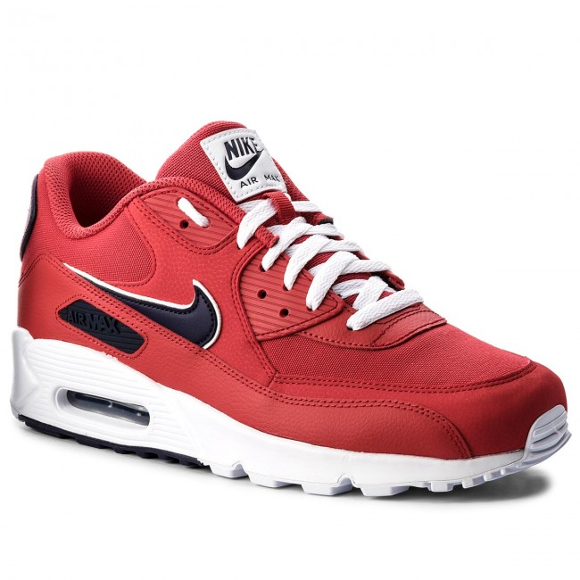hot sale online 69ad8 66d40 Shoes NIKE. Air Max 90 Essential AJ1285 601 University Red Blackened Blue