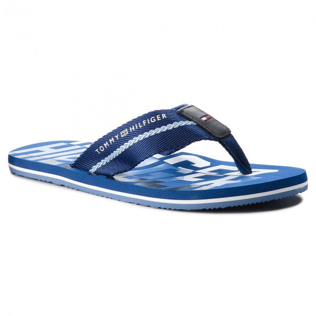 2c91c7aba Slides TOMMY HILFIGER - Bold Hilfiger Beach Sandal FM0FM01367 Monaco Blue  408