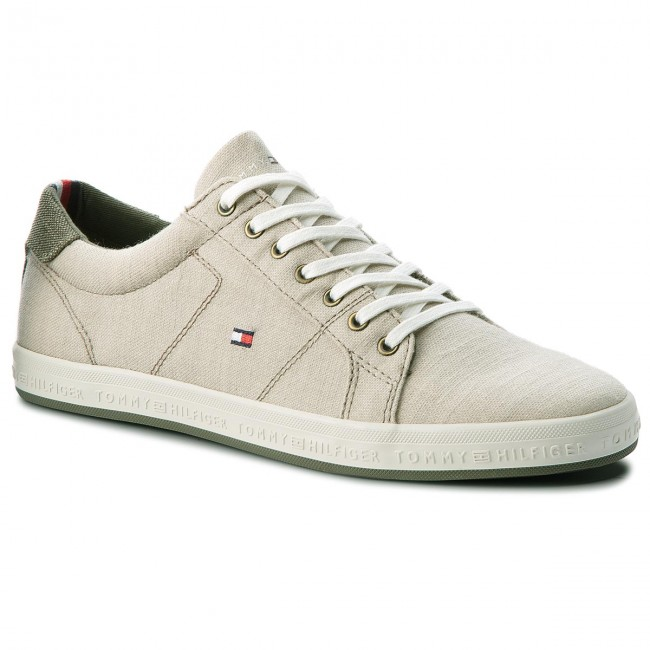 aaec1524a588 Plimsolls TOMMY HILFIGER. Essential Pique Denim Sneaker FM0FM01378  Cobblestone 068