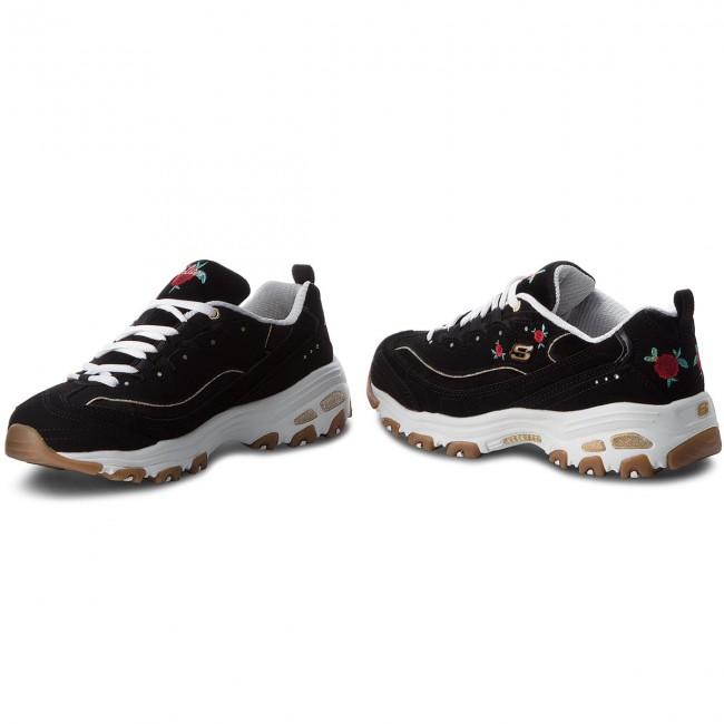 b308f1734674 Sneakers SKECHERS - Rose Blooms 13084 BKW Black White - Sneakers ...