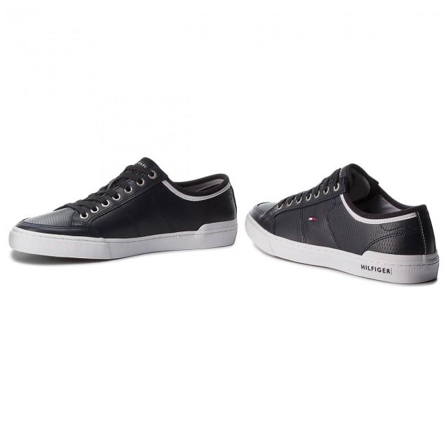 f9210443e22fa4 Sneakers TOMMY HILFIGER - Core Corporate Leather Sneaker FM0FM01497  Midnight 403