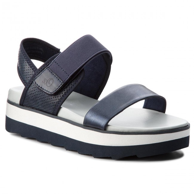aa1427725f5 Sandals S.OLIVER - 5-28202-20 Navy Comb. 891 - Wedges - Mules and ...