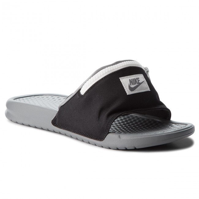 7ad4666672c Slides NIKE - Benassi Jdi Fanny AO1037 001 Black Cool Grey Summit White