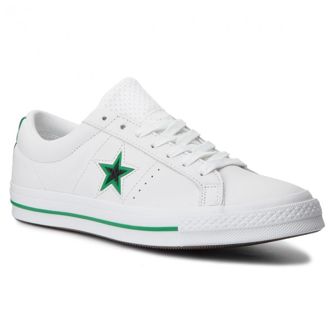 c011c77f935 Plimsolls CONVERSE - One Star Ox 161589C White Black Converse Green ...