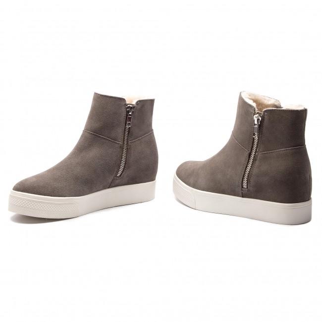 25df15b4a48 Boots STEVE MADDEN - Wanda Wedge Sneaker SM11000193-03002-615 Grey Suede