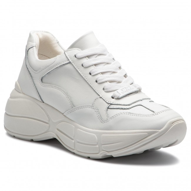 ef7c4080e2d Sneakers STEVE MADDEN - Memory SM11000321 White Leather - Sneakers ...