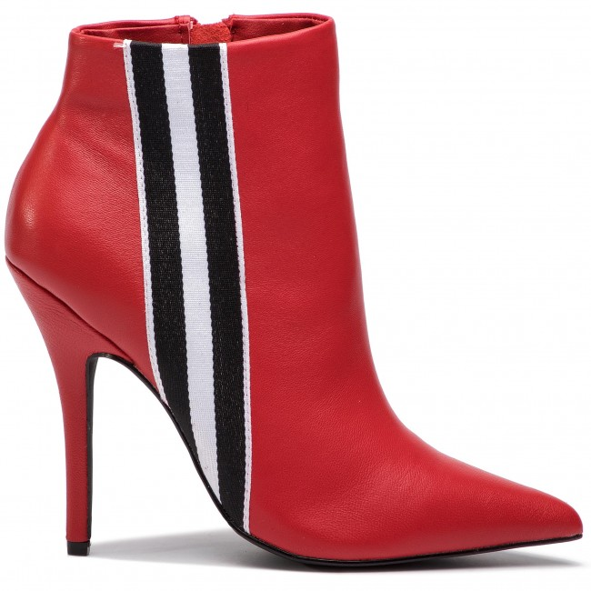51c0de91b78 Boots STEVE MADDEN - Knock Bootie SM11000340-03001-607 Red Leather ...