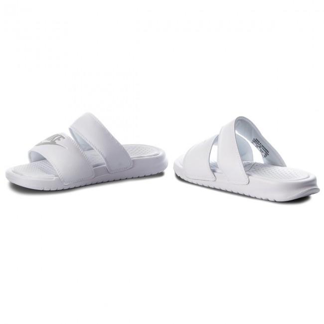 0660140f0af8 Slides NIKE - Benassi Duo Ultra Slide 819717 100 White Metallic Silver