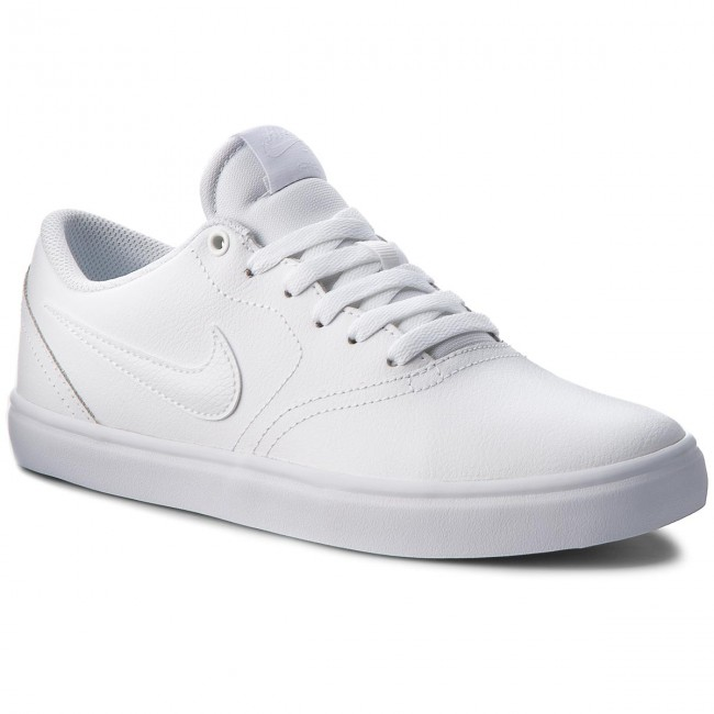 low priced 27612 3a3ab Shoes NIKE - Sb Check Solar 843895 102 WhiteWhiteWhite