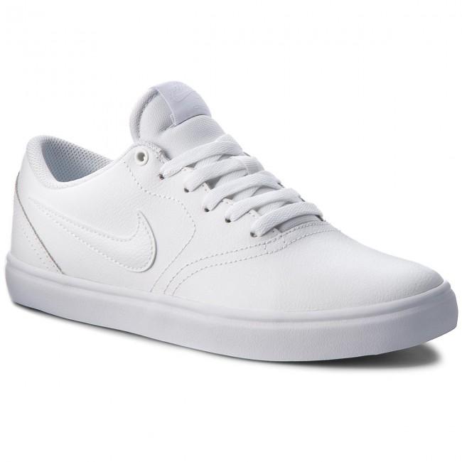 9c7a5dc5347 Shoes NIKE - Sb Check Solar 843895 102 White White White - Sneakers ...